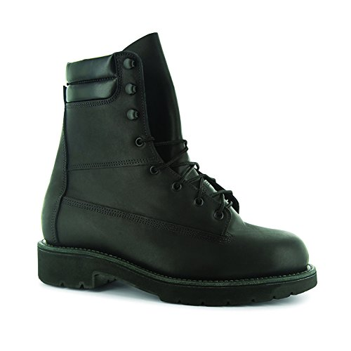Abram Boot Men's Genesee 8'' Steel Toe Work Boots, Black Leather, Trailblazer XL BossSole, 11 3W - 8' Mens Steel Toe Boot