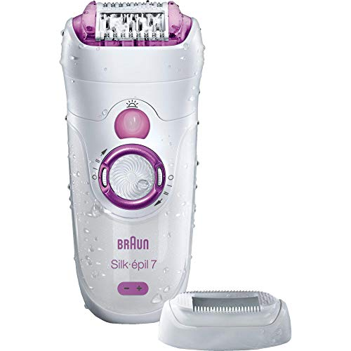 Braun Silk-épil 7 7-521 Women's Epilator, Electric Hair Removal, Wet & Dry, Cordless, White/Pink (Packaging May Vary)
