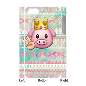 Customized 3D iPhone 4,4G,4S Case, Cute pig emoji quote Cheap Phone Case