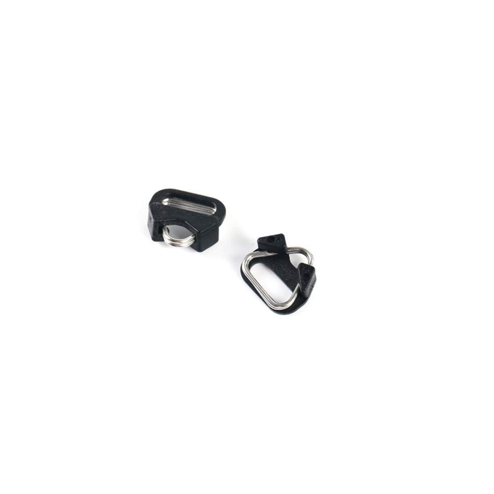 (2 Pair) VKO Lug Ring Camera Strap Triangle Split Ring Hook + Plastic Cap Compatible for All Brand D-SLR Rangefinder Mirrorless Camera W/Round Eyelet VQR-10