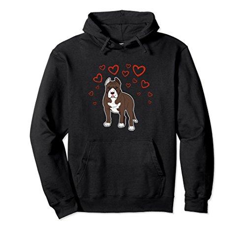 Unisex Pitbull is my Valentine Hoodie XL: Black (Sweatshirt Valentine Name)