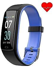 Dwfit Fitness Armband mit Pulsmesser,Wasserdicht Blutdruckmesser Fitness Tracker Aktivitätstracker Pulsuhren Schrittzähler,Uhr Smartwatch mit Schlafmonitor für iOS Android Handy