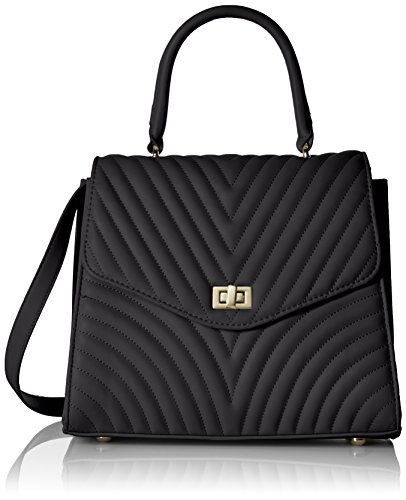 6b52517bfbe0 Amazon.com  Steve Madden Coco Ladies TOP Handle Non Leather Satchel with  Chevron Quilting
