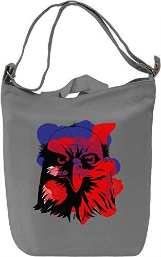 Bald Eagle Borsa Giornaliera Canvas Canvas Day Bag| 100% Premium Cotton Canvas| DTG Printing|