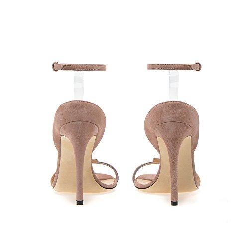 Cuir Fête Mariage PVC Femme 910 Taille Haut Plateforme Soirée Talon Club De De 39 TLJ en Transgenre KJJDE Grande Sexy Mode Nude Coutures Sandales WUwvqRvza