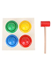 Awakingdemi Wooden Knock Ball Hammer, Multicolor Small Hit Ball Toys Wooden Pound Toys for Toddler and Infant Baby BOBEBE Online Baby Store From New York to Miami and Los Angeles