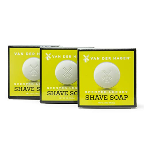 Van Der Hagen Scented Shave Soap - 3 Pack (3.5oz)