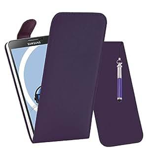 iTALKonline Samsung N9005Galaxy Note 3III PU piel ejecutivo Multi multifunción para actividades de intervalo Impacto carpetas Buzón protectora veranstalter, protector de pantalla LCD y kopfhörerhalterung 3,5mm Mini versenkbaren Stylus Lápiz, compatible con Samsung N9005 Galaxy Note 3 III
