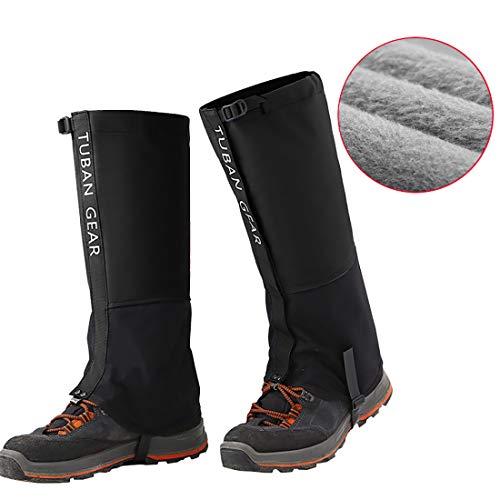 s Snow Waterproof – Fleece Lining Outdoor Shoes Rain Gear Walking Boot Gators Hunting gaitors Climbing Mountain Snake Black L ()