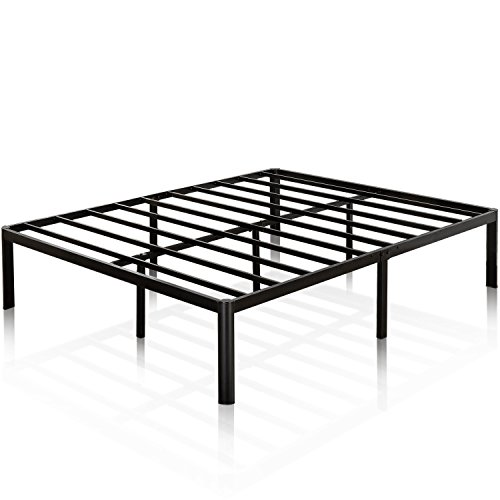 Zinus Van 16 Inch Metal Platform Bed Frame with Steel Slat Support / Mattress Foundation, Twin - Mattress Support