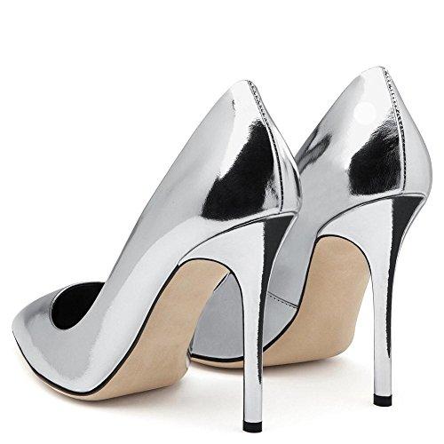 Vestir Zapatos Nocturno 5 Señoras Eur Tacón Nvxie Zapatillas Mujeres 35 Fiesta uk 5 37 Puntiagudo eur37uk455 Plata Inteligente Estilete Oro Corte 4 Alto 44 Trabajo Silver Tamaño Club 6IIwqanS