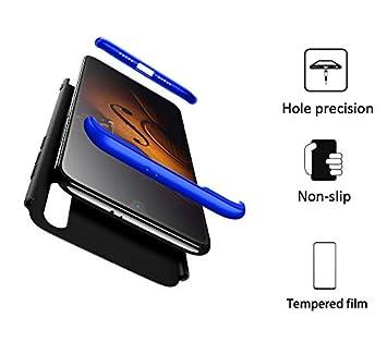 FMPC Funda Compatible con Xiaomi Mi 9 SE, Caso Carcasa Xiaomi Mi 9 SE Slim Fit 360 Grados 3 in 1 Todo Incluido Protección Cover Anti-Rasguño con HD ...