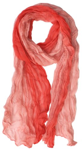 LibbySue-Ombre Watercolor Wash Crinkle Scarf in Multiple Colors in Peach