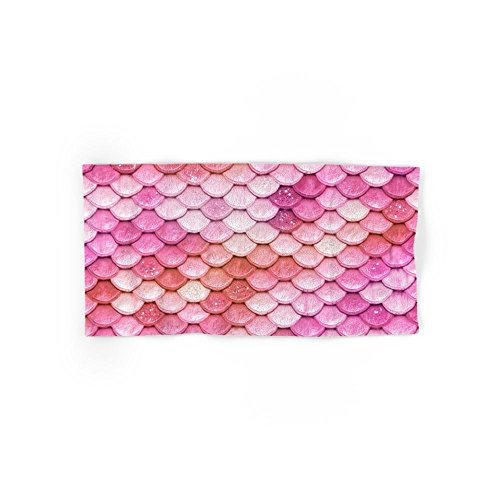 Society6 Multicolor Pink Mermaid Glitter Scales - Mermaidscales Set of 4 (2 hand towels, 2 bath towels) by Society6