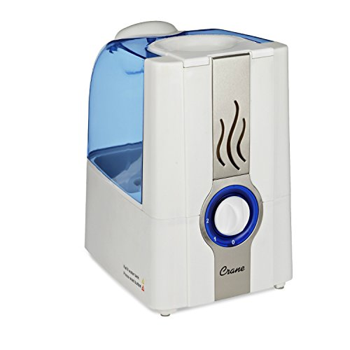 Crane Warm Mist Humidifier, Blue and White