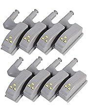 HONGCI Universele kastbewegingsmelder, LED, bewegingsmelder, LED, nachtlampje, kledingkast, scharnier, LED-verlichtingssysteem, huiskeuken, scharnieren, aan/uit, nachtlampje, 8 stuks