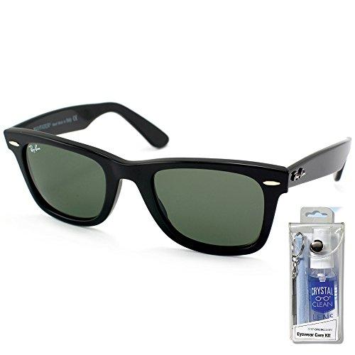 Ray Ban RB2140 901 50mm Black Wayfarer Sunglasses Bundle - 2 - Ban Wayfarer Ray Ii