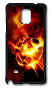 MOKSHOP Adorable Exploding Planet Hard Case Protective Shell Cell Phone Cover For Samsung Galaxy Note 4 - PCB