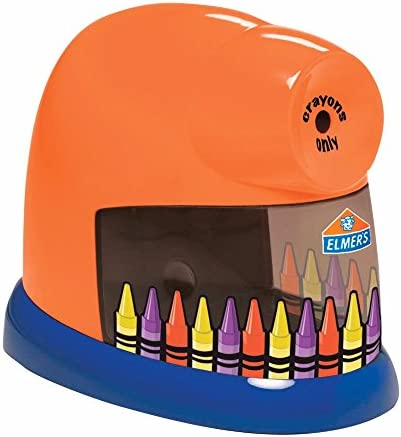 CrayonPro 電動クレヨンシャープナー 交換可能なブレード付き オレンジ 各1個販売