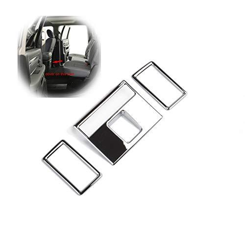 JSTOTRIM Chrome Central armrest A/C Vent Cover Trim fit 2014 2015 2016 2017 2018 Dodge RAM 1500 2500 3500 Accessories ()
