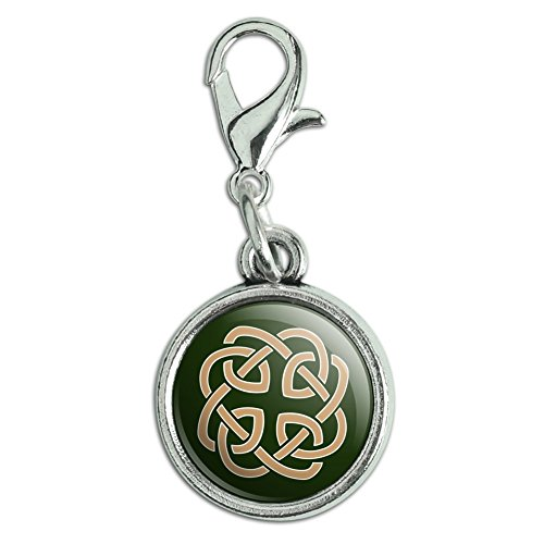 Celtic Knot Pull - Celtic Knot Love Eternity Antiqued Bracelet Pendant Zipper Pull Charm with Lobster Clasp