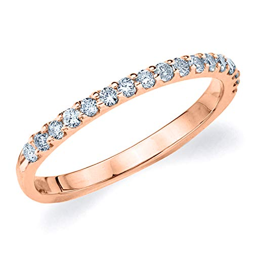 Legacy 1/3CT Diamond Ring, Genuine Diamond Wedding Anniversary Ring in 10K Rose Gold - Finger Size -