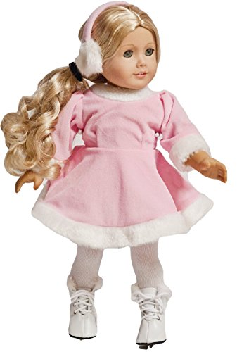 American Doll Princess Ice Skating Dance Costume Dress Doll Outfit | 18-inch Doll Clothes & Accessories | Outfits for American Girl Dolls | Doll Connections | Tammy Lee Designs - 18 Doll Dance Costumes
