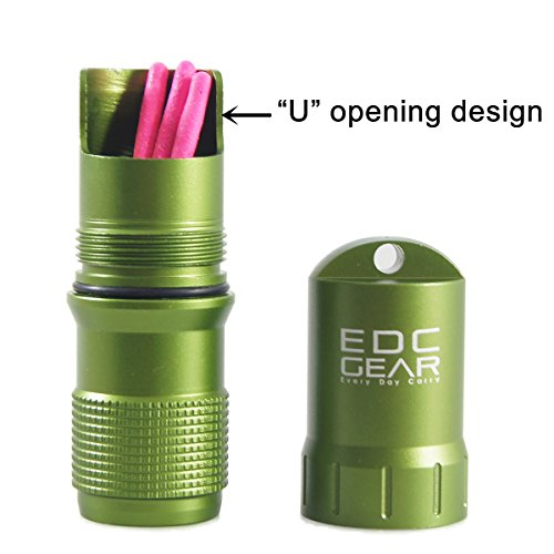 Cevinee trade; Waterproof EDC Keychain Capsule Tube, Solid Small Essentials Stocking Container/Seal Bottle/Match Case/Dry Box/Pill Fob
