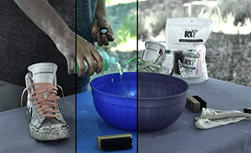 Bolt Premium Shoe Sneaker Cleaner Kit - Shoe Brush, 8 Oz. Concentrated Solution (2 Quarts After Dilution), Microfiber Towel. Biodegradable, All-Natural. Safe on Vinyl, Rubber, Fabrics, Canvas, Leather by BOLT (Image #5)