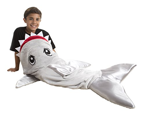 Snuggie Tails Shark Blanket for Kids, Gray