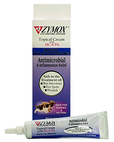 - Zymox Antimicrobial & Inflammation Relief Topical Cream with 0.5 Hydrocortisone 1oz