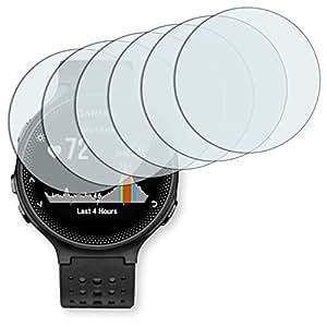 "6 x protectores pantalla Golebo para Garmin Forerunner 235. Lámina protectora adhesiva invisible ""Crystal Clear"". Fabricado en Alemania."