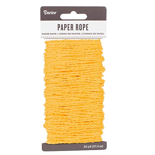 Craft County 3mm Decorative Coiled Paper Rope - 30 Yards (27.4 Meters) Per Package - for Crafting, Scrapbooking, and DIY Décor -