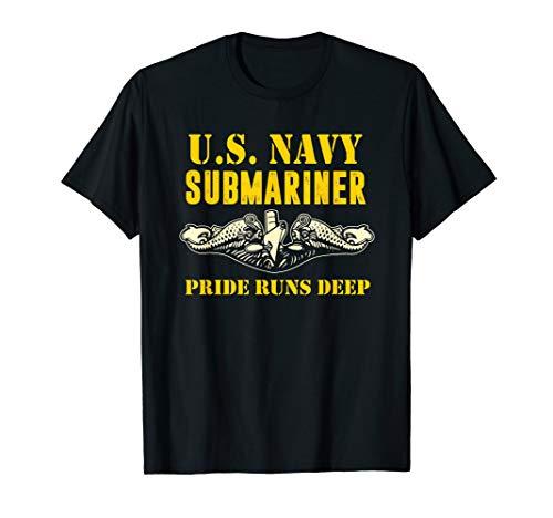 US Navy Submariner Shirt Pride Runs Deep Sub Veteran Tee -