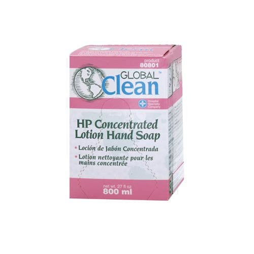 Hospeco Global Clean 80801 Pink High Performance Concentrated Lotion Hand Soap, 800 mL (Case of 12) by Hospeco