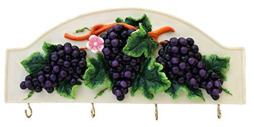 "3-D Grape Ceramic Key Holder 10""L, 82866 by ACK"