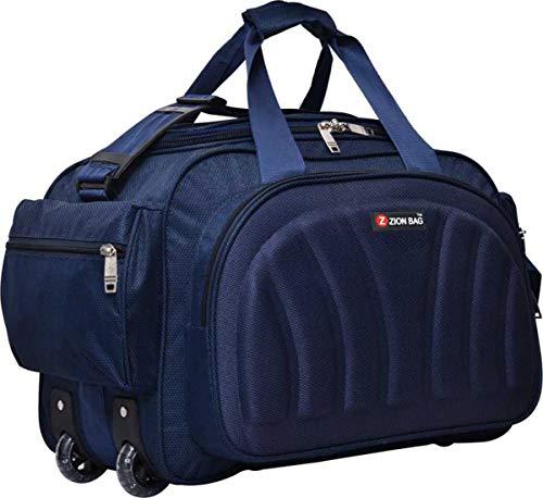 Zion bag Waterproof Polyester Lightweight Blue 40 L Travel Duffel Bag with 2 Wheels