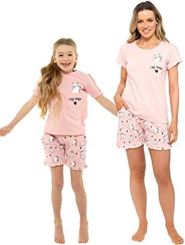 Habigail Conjunto de pijama para mujer Twosie Pijama para mujer – Mamá e hija a juego conjuntos de pijama