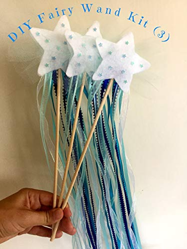 Magic Fairy Wands Kit- Kids Craft, Blue DIY from HappyPeople