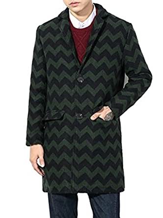 Men's Plus Size Single Breasted Trench Coat Winter Long