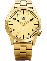 Watches Cypher_M1. Mens 3 Link Solid Stainless Steel Bracelet, 22mm Width (All Gold. adidas