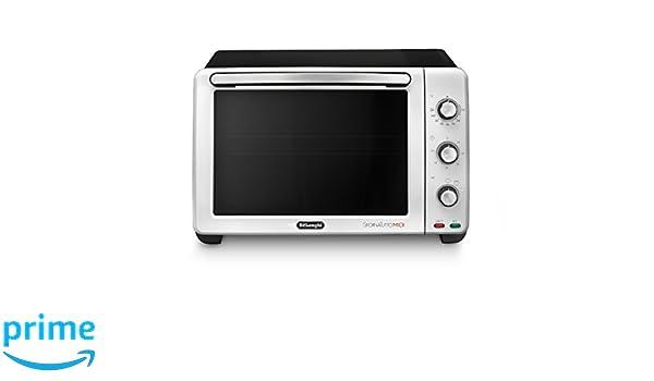 DeLonghi Sfornatutto Midi Eléctrico Funciones Horno, Grill, Cocción Lenta y Mantenimiento de Temperatura, 24 Litros, Blanco/Negro: Amazon.es: Hogar