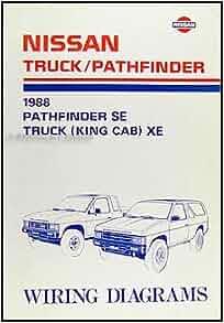 1988 nissan truck and pathfinder wiring diagram manual original nissan books. Black Bedroom Furniture Sets. Home Design Ideas
