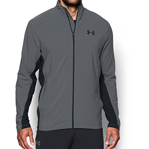 Under Armour Men's Lined Warm-Up Jacket,Graphite /Black, Medium