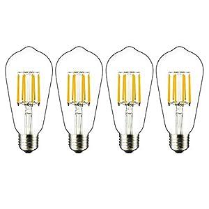 Bonlux Lampadine a Filamento LED E27 Dimmerabile 8W, Sobstituzion per Lampadine a Incandescenza 60-80W, Lampadina… 41ChOKyfV7L. SS300