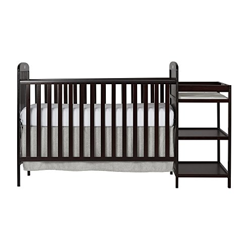 Dream On Me, 4 in 1 Full Size Crib and Changing Table Combo, Espresso