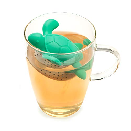 - Turtle Tea Infuser Stainless Steel and Silicone Turtle shaped Loose Leaf Tea Infuser by TrueZoo