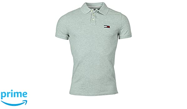 90dc53a4 Tommy Hilfiger Men's Classic Fit Big Flag Logo Polo Shirt - XL - Gray at Amazon  Men's Clothing store: