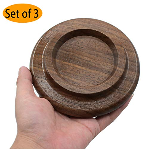 (Piano Caster Cups Grand Piano Caster Cups Wood coasters Cups Piano Caster Pads for Grand)