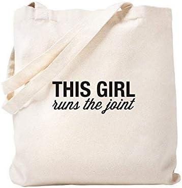 WSMBDXHJ - Bolsa de la Compra de Lona, diseño con Texto en inglés This Girl Runs The Joom